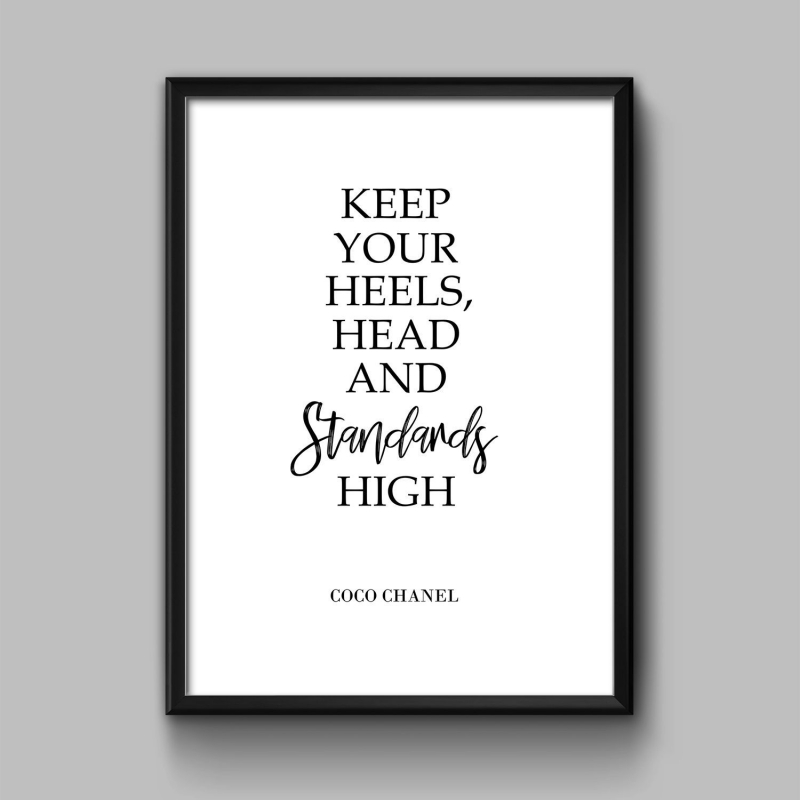 "Постер ""Keep your heels high"""